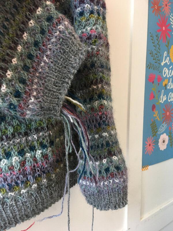 Clair de lune à rayures en tricot épais baby blanket