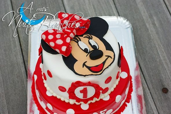 Weeding Cake Minnie Pour Anaé A Mes Nuits Blanches