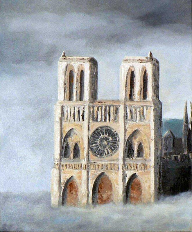 ND de Paris - Huile sur toile - 8F 46x38 cm