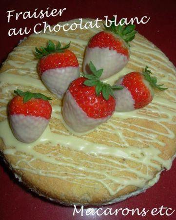 Fraisier chocolat blanc 2