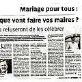Christiane agarrat ne célèbrera pas de mariages homosexuels