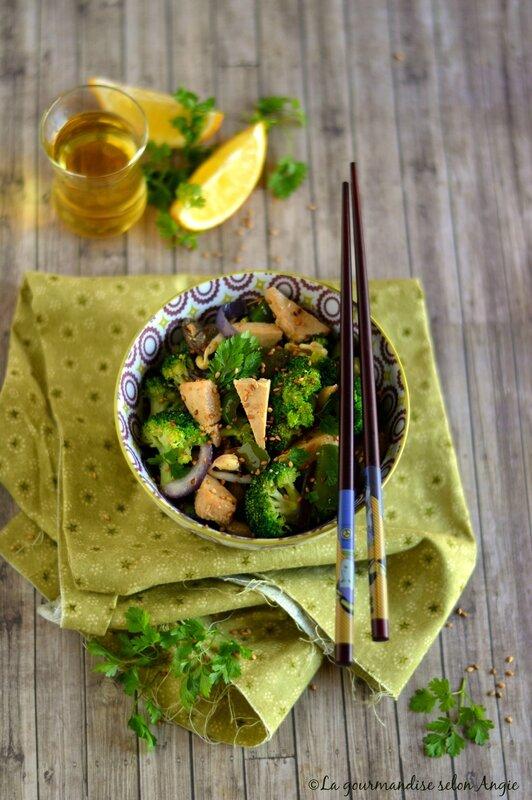 wok tofu et brocoli vegan