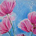 Pas à pas pour peindre des coquelicots roses à l acrylique