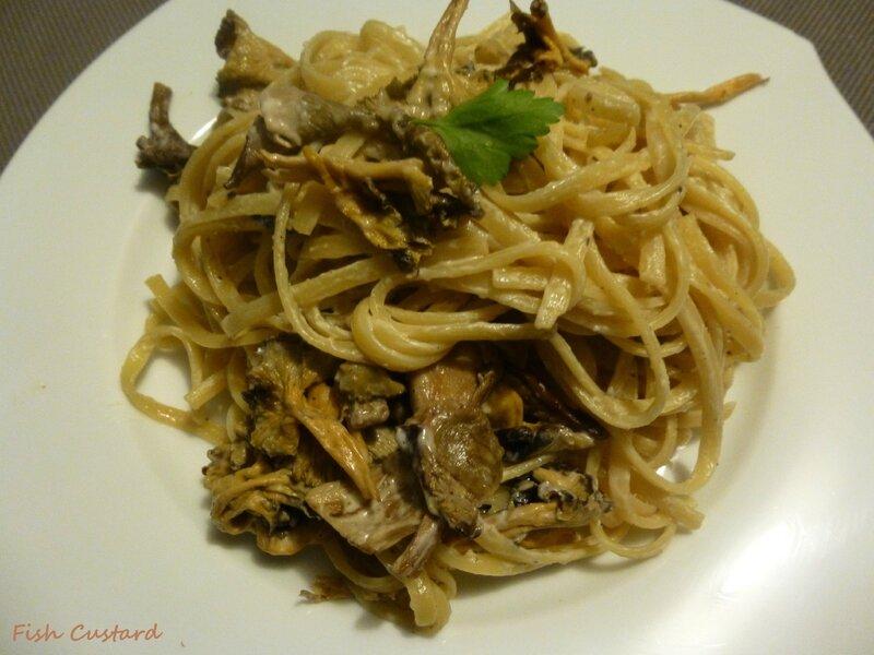 Linguine à la crème de champignons (7)