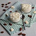 Riz au lait et chocolat blanc amandes
