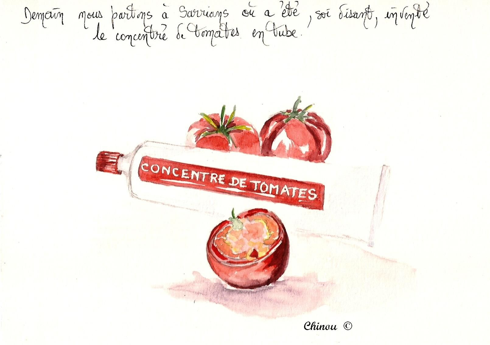 Sarrians et son concentré de Tomates en tube