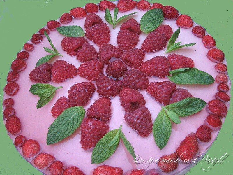 """Gâteau - mousse """"Charme de fruits """""""