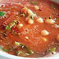 Soupe tomates-haricots blancs