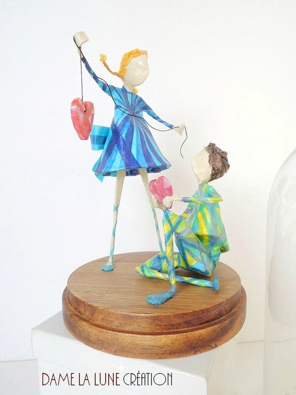 damelalune-creation_figurine_st valentin_amoureux_sculpture