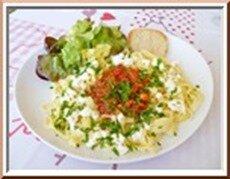 tagliatelles, sauce tomate et féta