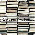 Give me five books # 11