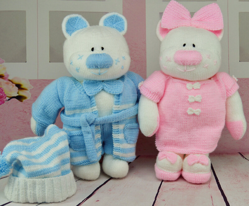Traduction The Aventures Bedtime Bears Beau Belle (Parents) - Knitting by Post