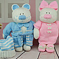 The aventures bedtime bears beau belle (parents) - knitting by post