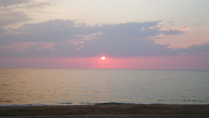 Huchet, coucher de soleil