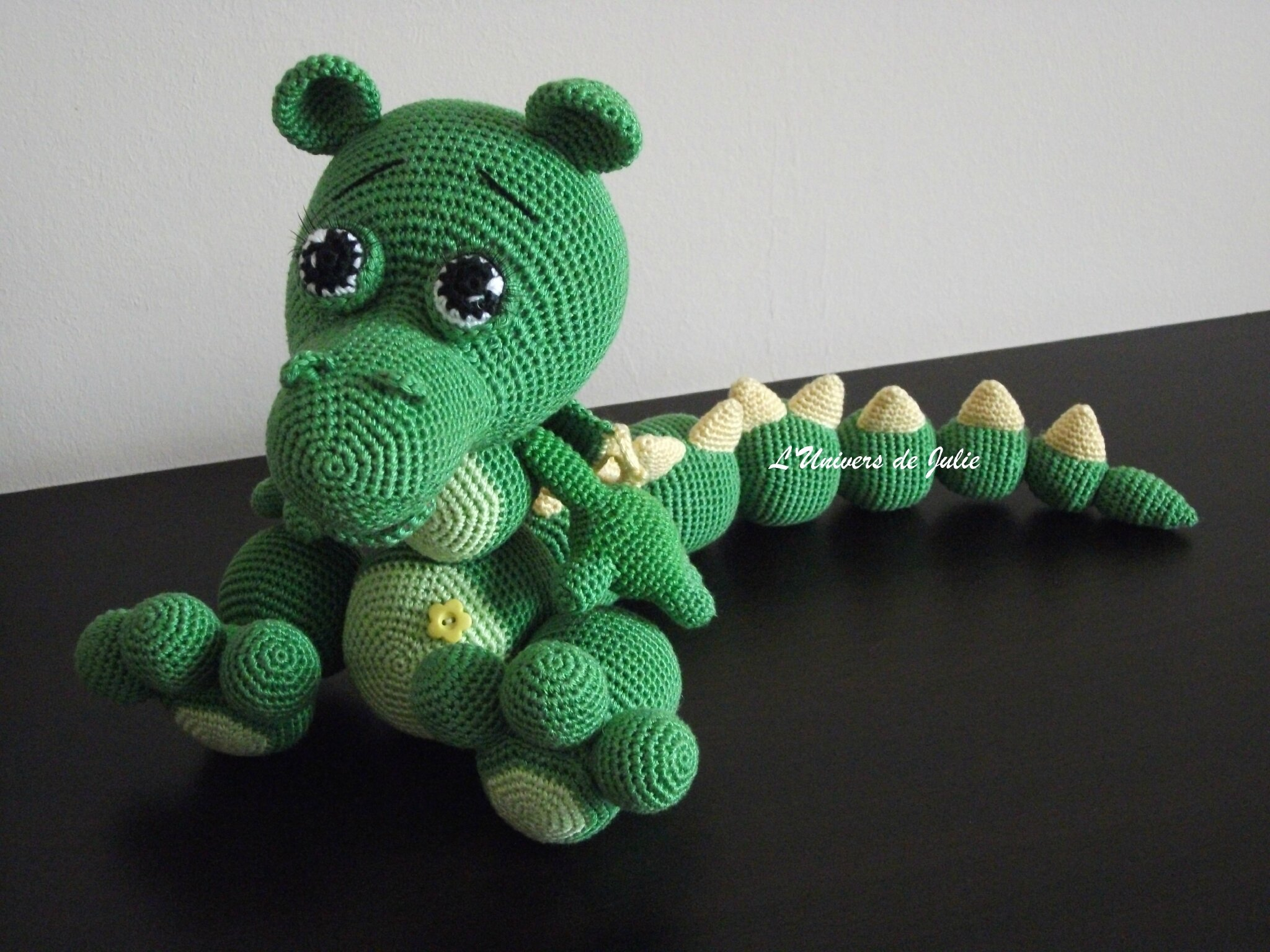 Vincent the Dragon | Free Crochet Pattern Amigurumi | Hooked by Kati | 1536x2048