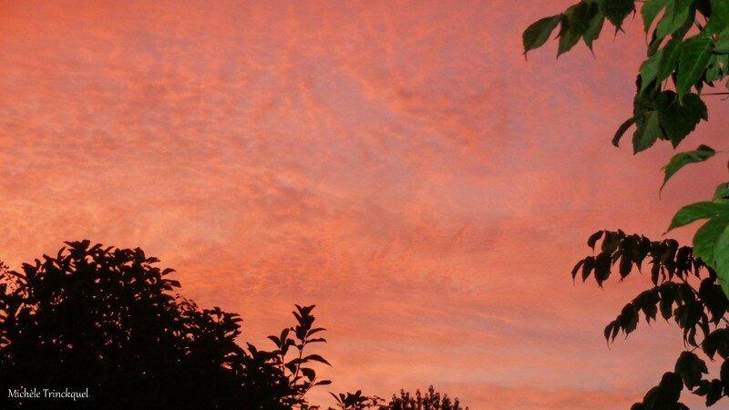 Ciel coucher de soleil 040916