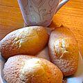 Madeleines au zeste de citron
