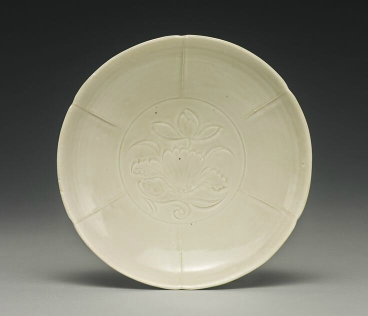 A 'Ding' lobed dish, Northern Song dynasty