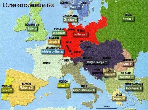 Europe des souverains 1900
