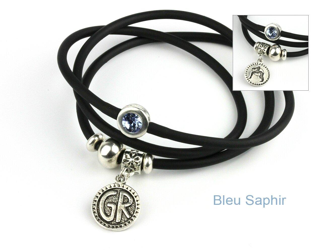 bracelet mia GR noir-saphir