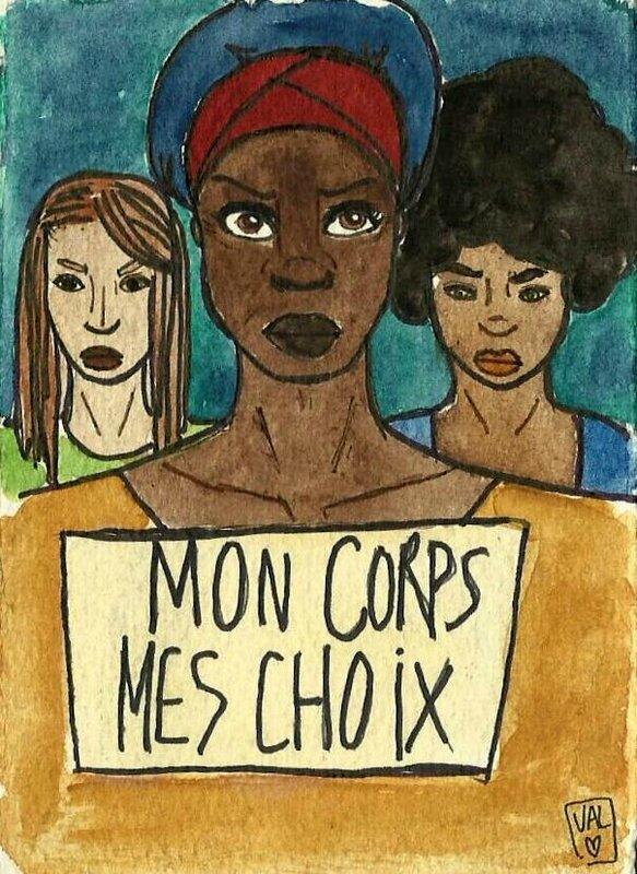 Femmes noires militant pour leurs droits