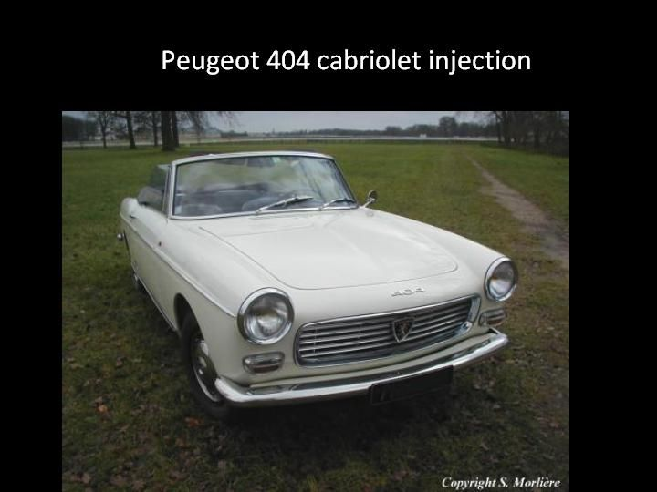 1962 - Peugeot 404 injection cabriolet