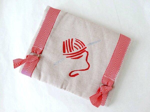 Pochette ouvrages crochet 1