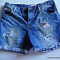 Un reste d'été : customisation short et pantalon