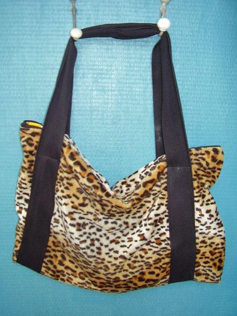 sac léopard jaune