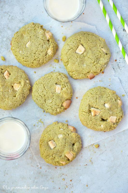 cookies vegan sans gluten avoine matcha chocolat blanc (4)