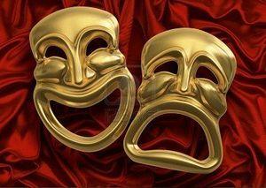 7059792-masques-de-th-tre-de-com-die-trag-die-classique-contre-rideau-rouge-tissu