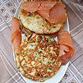 Pancakes à la ricotta, saumon fumé et citron