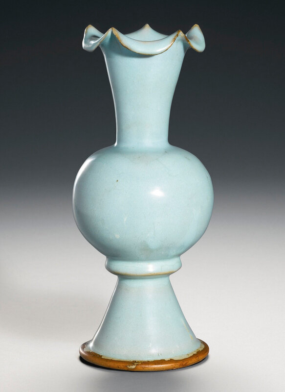 An extremely rare 'Jun' foliate-mouth vase (zun) Northern Song Dynasty (960-1126)