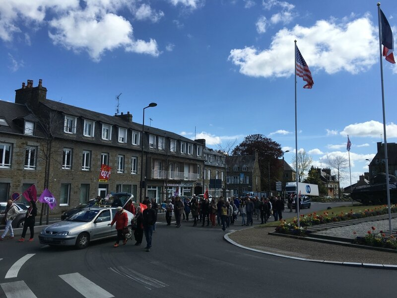 Fête Internationale du Travail Avranches 1er mai 2016 défilé place Patton