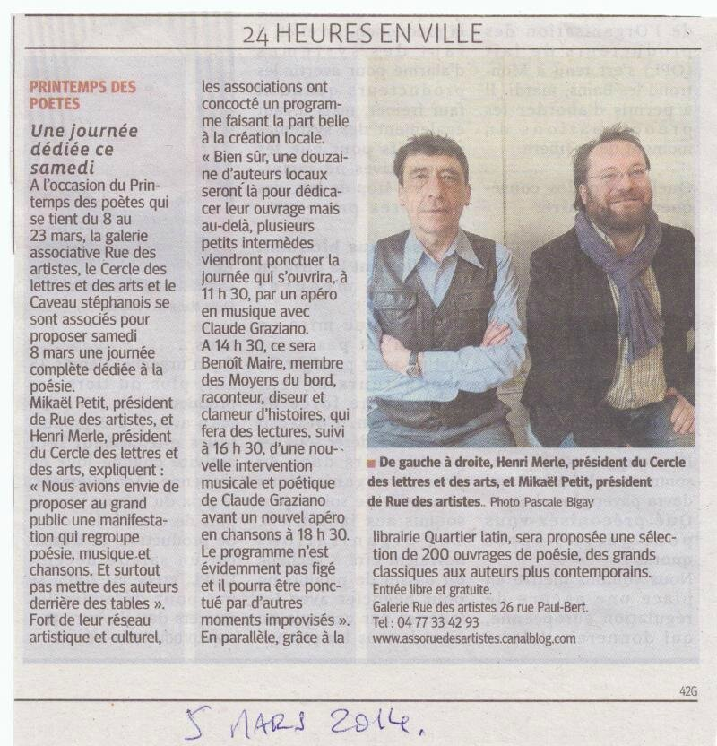 Article Printemps poètes