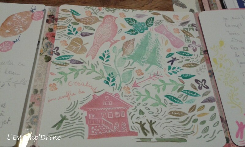 carte tamponnee happy mail automne