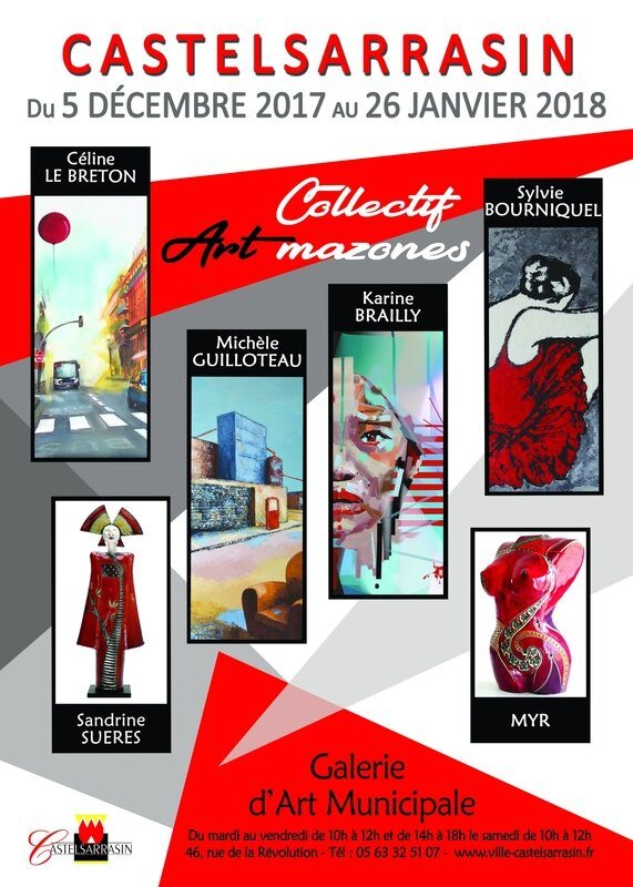 Affiche Collectif d'art mazones