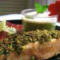 Menu rose et vert : le plat principal