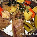 Viande paleron + légumes pot au feu facile