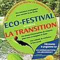 Eco-festival la transition le 12, 13, 14 avril à lagny en marne et gondoire