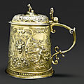 A german silver-gilt tankard, jakob thurnover, augsburg, 1590-95