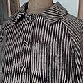 Veste VICTORINE en toile polyester zébré - doublure de satin noire (5)
