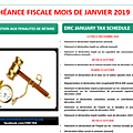 Calendrier fiscal janvier 2019 / 2019 drc tax schedule