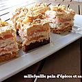 Millefeuille pain d'épices saumon fume