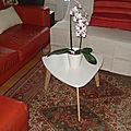 table basse pieds en bois de palette