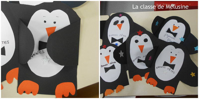 Cartes pingouins surprise