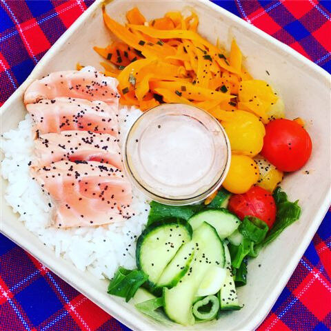 Salmon bowl ©Kid Friendly