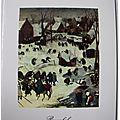 Breughel - scène d'hiver