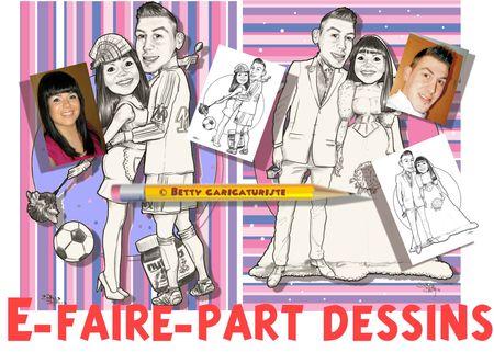 e-faire-part mariage caricature