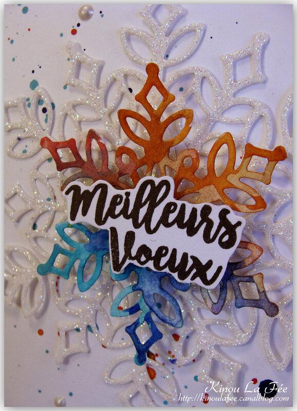Carte Flocons Aquarelle 4